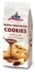 Cookies with 20% milk chocolate, 11% dark chocolate and 6% white chocolate